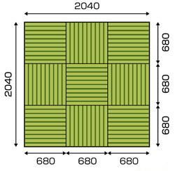 サイズオーダーの畳の部屋