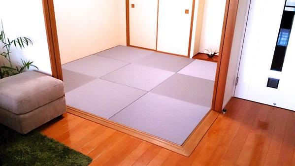お客様が自分で敷いた和室の畳