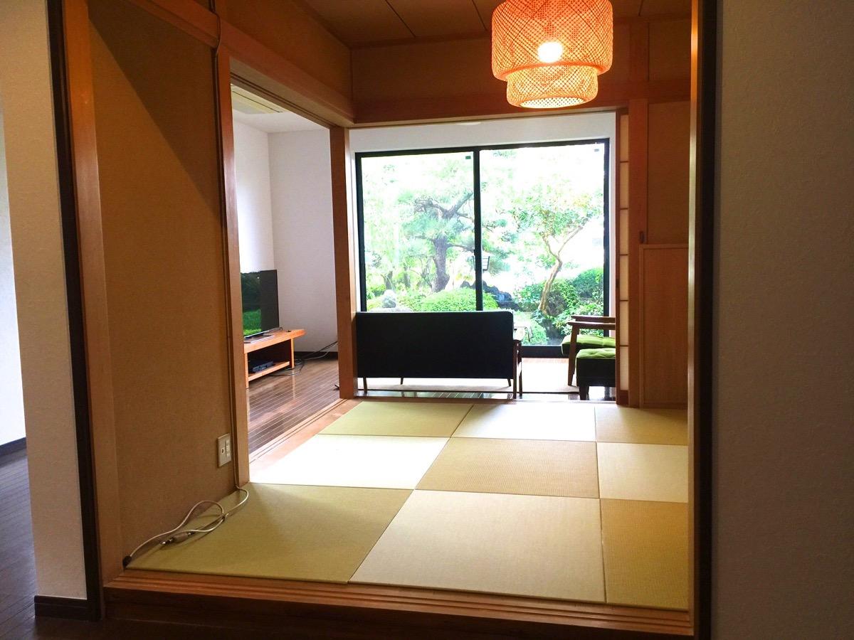 床暖房の畳の部屋