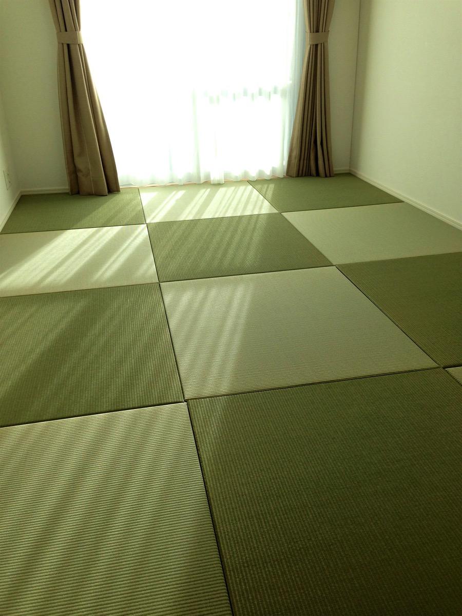 お客様が敷いた畳の部屋