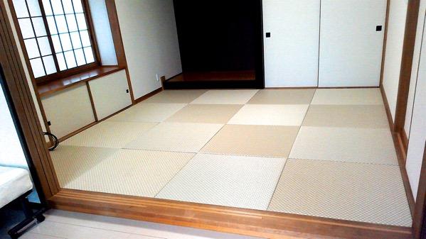 セキスイ美草 市松リーフグリーンの畳が16枚