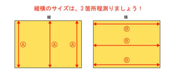 部屋のサイズの測り方