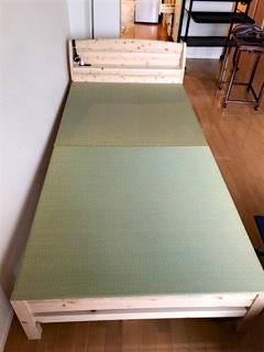 熊本産イ草の畳を敷いたベッド