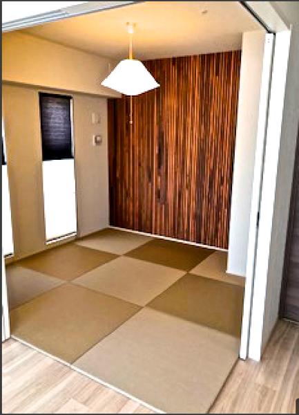 モカベージュの畳を敷いた部屋