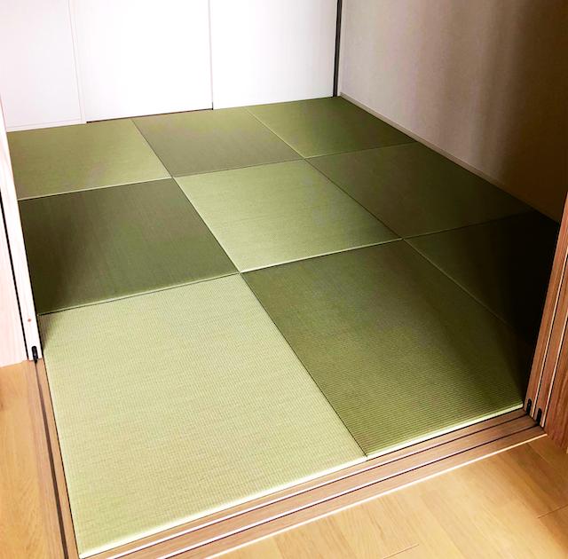 琉球畳9枚を敷いた部屋
