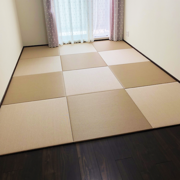 市松模様の部屋
