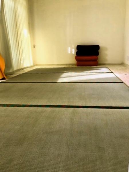ヨガルームに畳を設置