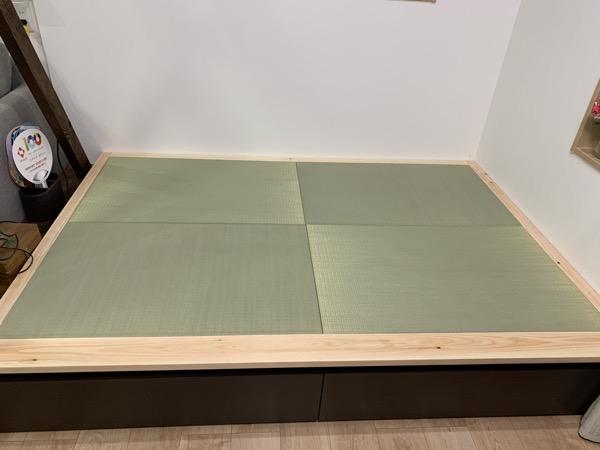 畳の小上がりが完成